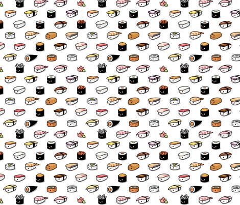 Sushi Lovers fabric by kukubee on Spoonflower - custom fabric