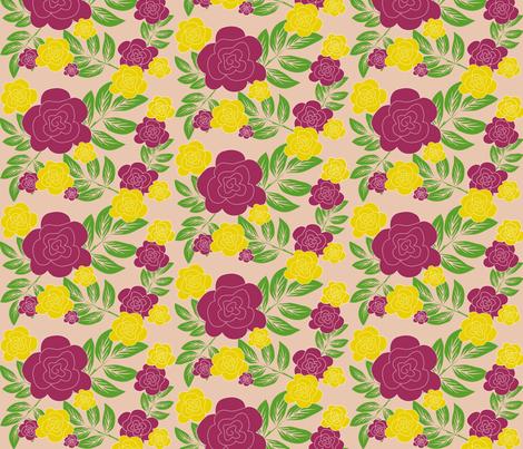purple rose fabric by rose'n'thorn on Spoonflower - custom fabric