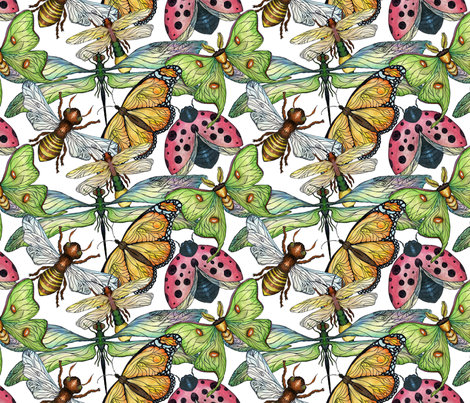 Wings fabric by poshcrustycouture on Spoonflower - custom fabric