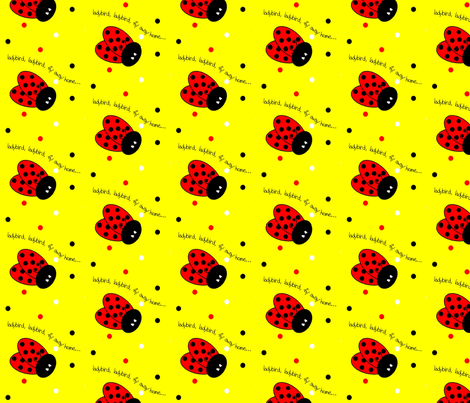 ladybird-ed fabric by ironicatomic on Spoonflower - custom fabric