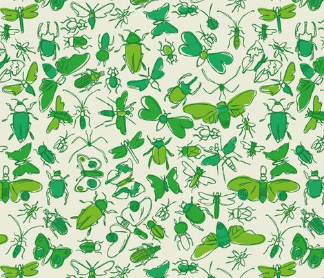 bugs! fabric by circlesandsticks on Spoonflower - custom fabric