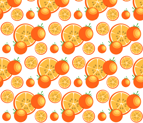 orange crush fabric by rose'n'thorn on Spoonflower - custom fabric