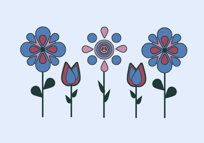 Retro Floral Line