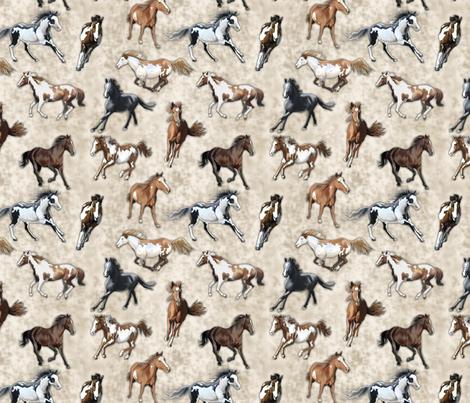 Kandihorse Stampede fabric by bhymer on Spoonflower - custom fabric