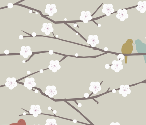 cherry fabric by troismiettes on Spoonflower - custom fabric