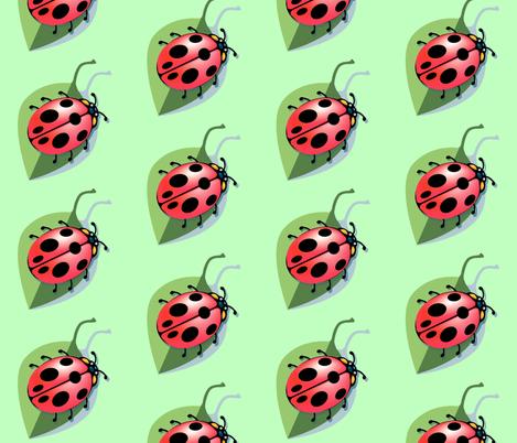 Lady Bug fabric by krwdesigns on Spoonflower - custom fabric