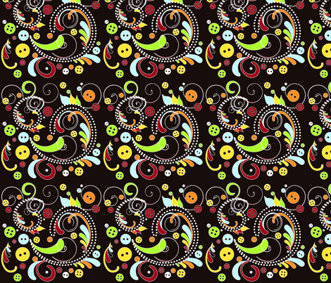 ButtonPaisley fabric by ladybugjen on Spoonflower - custom fabric