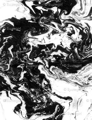 suminagashi black 8 x 8