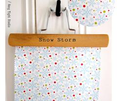 Snow Storm - Christmas Snowflakes Blue
