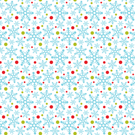 Snow Storm - Christmas Snowflakes Blue fabric by heatherdutton on Spoonflower - custom fabric