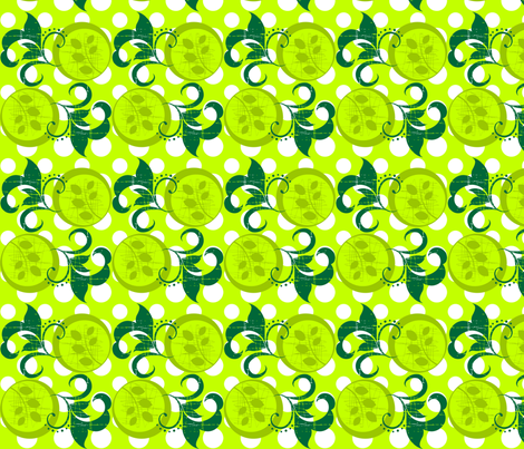 Leafy fabric by printablecrush on Spoonflower - custom fabric