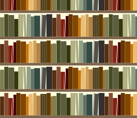 Basic Bookshelf Fabric By Avelis On Spoonflower