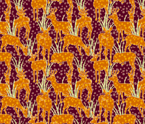 Forest: Deer fabric by bronhoffer on Spoonflower - custom fabric