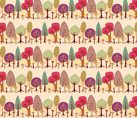 Forest: Trees - summer fabric by bronhoffer on Spoonflower - custom fabric
