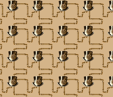 Steampunk Network fabric by pantsmonkey on Spoonflower - custom fabric