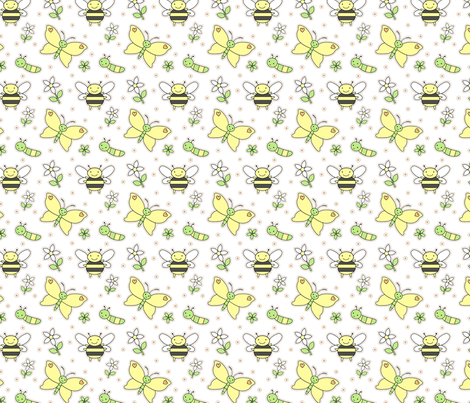 Spring Garden fabric by zoel on Spoonflower - custom fabric