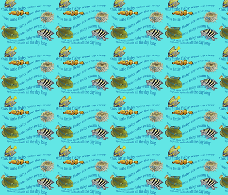 This is little fishy fabric by edengirl on Spoonflower - custom fabric