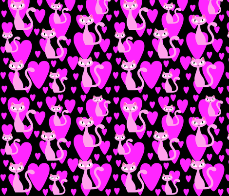 in the pink fabric by drbadjen on Spoonflower - custom fabric