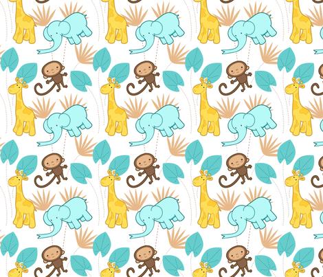 Cute Safari 1 fabric by zoel on Spoonflower - custom fabric