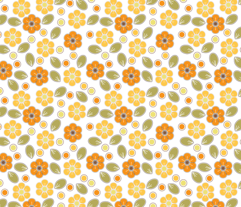 Spring flowers fabric by suziedesign on Spoonflower - custom fabric