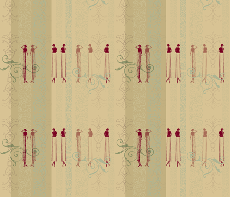 Tall Lady fabric by mudstuffing on Spoonflower - custom fabric