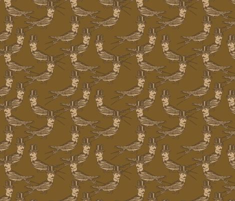 Steampunk Birdman fabric by mudstuffing on Spoonflower - custom fabric