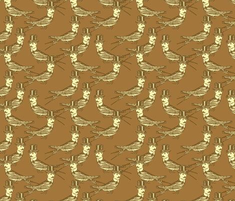 Steampunk Birdman - variation fabric by mudstuffing on Spoonflower - custom fabric