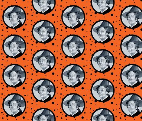 Salem Witch Orange fabric by golders on Spoonflower - custom fabric