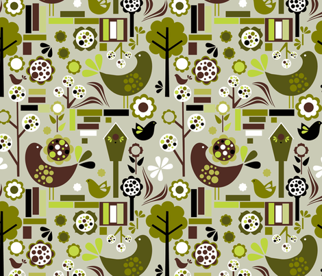 retrospring fabric by renule on Spoonflower - custom fabric