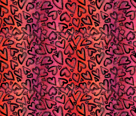 Valentine_s_Heart_Pattern_Fabric_150 fabric by gretchenlittle on Spoonflower - custom fabric