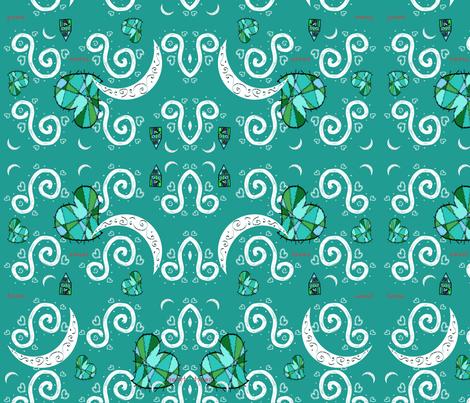 Sweet Moons fabric by deboraheve on Spoonflower - custom fabric