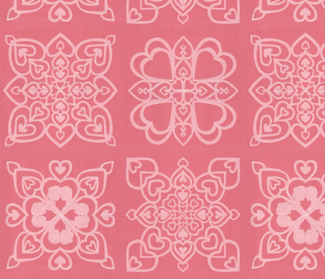 vll_cut_paper_valentine_collage_1 fabric by victorialasher on Spoonflower - custom fabric