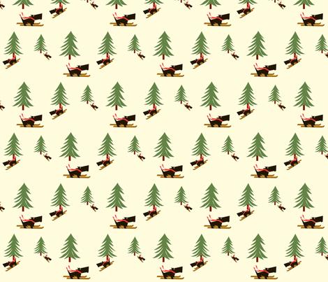 Scotties_on_skis fabric by kiki_ on Spoonflower - custom fabric