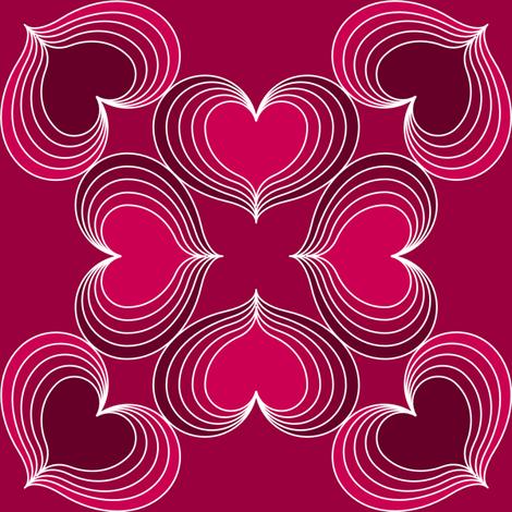 HeartThrob fabric by greenmyeyes on Spoonflower - custom fabric
