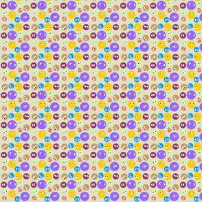 Dots With Eyes Tan BG