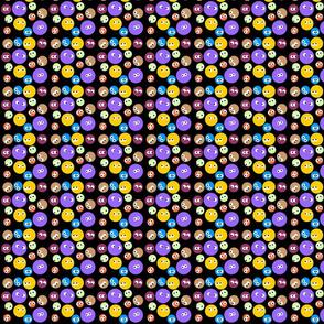 Polka Dots with eyes black bg