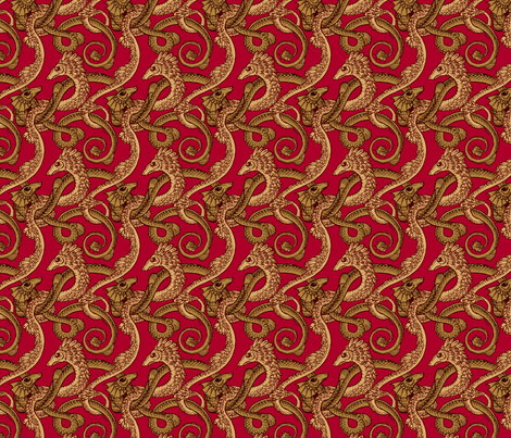 dragons red fabric by raul on Spoonflower - custom fabric