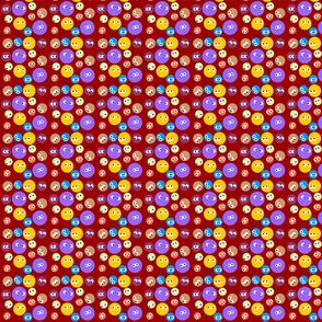 Polka Dots with eyes brown bg