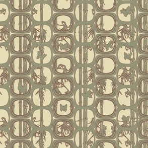 Bamboo Screen Print, Olive