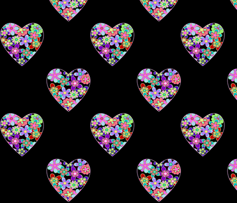 my_heart_is_filled_with_flowers fabric by vo_aka_virginiao on Spoonflower - custom fabric