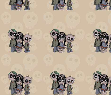 zombiefab-ed fabric by shellypint on Spoonflower - custom fabric