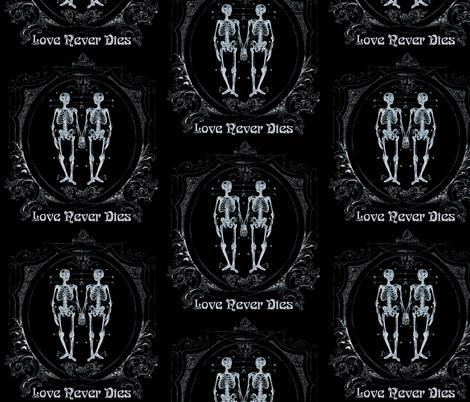 Love Never Dies fabric by eccentricat on Spoonflower - custom fabric