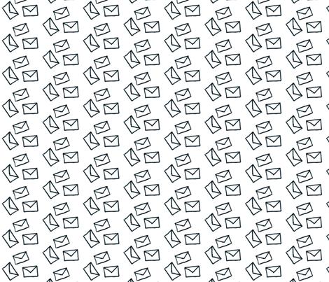 Very Valentine - Envelope Toss fabric by ryanwalsh3457 on Spoonflower - custom fabric