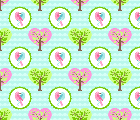 tweethearts 1 fabric by mytinystar on Spoonflower - custom fabric