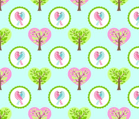 tweethearts 2 fabric by mytinystar on Spoonflower - custom fabric