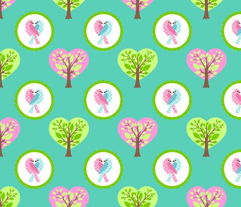 tweethearts 3 fabric by mytinystar on Spoonflower - custom fabric