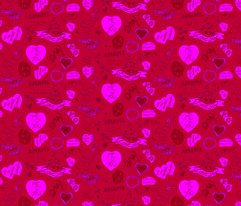 First Love fabric by jeezvanilla on Spoonflower - custom fabric