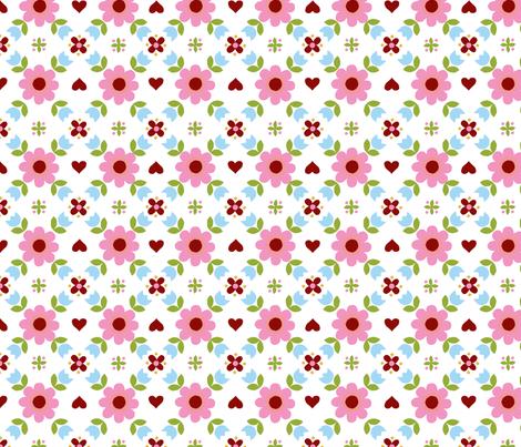 Retropattern pink-ch fabric by katharinahirsch on Spoonflower - custom fabric