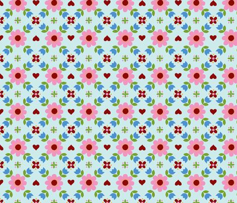 Retropattern Blue fabric by katharinahirsch on Spoonflower - custom fabric