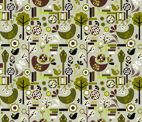 retrospring_col fabric by renule on Spoonflower - custom fabric